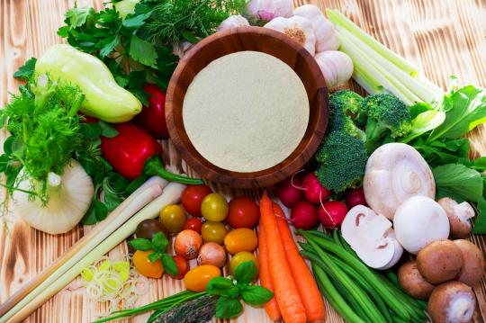 Whole Psyllium Husks Mixed With Food
